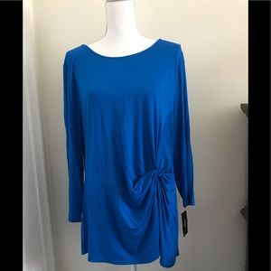 NWT Alfani Tunic Top in Blue Crest, Size. XX Large